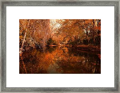 Lazy River Autumn Framed Print
