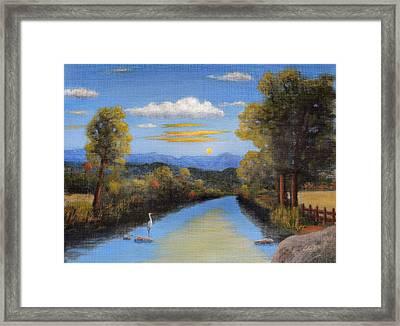 Lazy River Framed Print by Gordon Beck