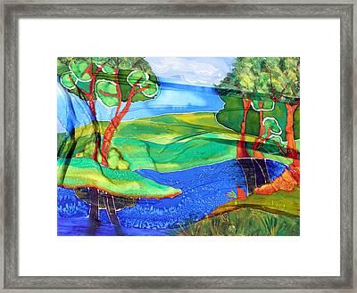 Lazy River Silk Framed Print