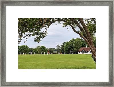 Lazy Sunday Afternoon - Cricket On The Village Green Framed Print by Gill Billington