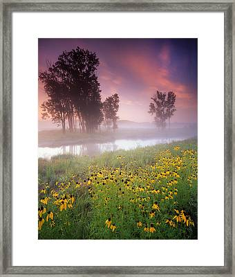 Lazy Susanne Sunrise Framed Print by Ray Mathis