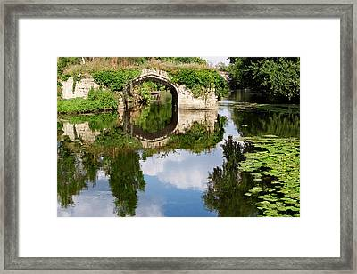 Lazy Waterway Framed Print by Jo Ann Snover