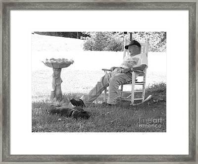 Lazy Weekend Resting Bw Framed Print