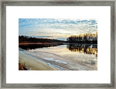 Lazy Winter River Framed Print by Michelle and John Ressler