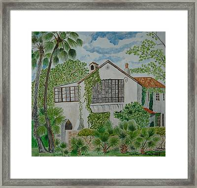 L.b. Clegg House In San Antonio Framed Print