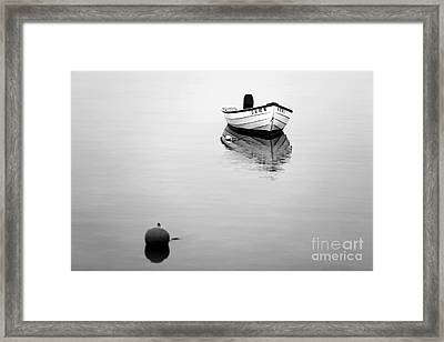 Lbi Boat Reflection Framed Print by John Rizzuto