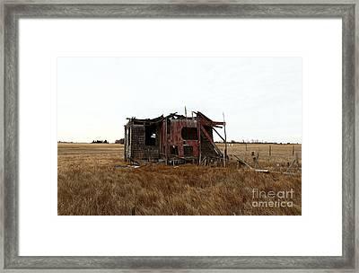 Lbi Shack Framed Print by John Rizzuto