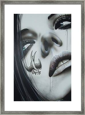 Portrait - ' L D 50 ' Framed Print by Christian Chapman Art