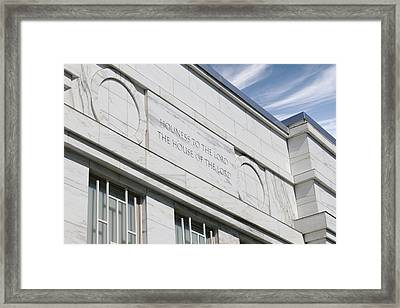 Lds Temple Raleigh Nc Framed Print by Nathanael Verrill