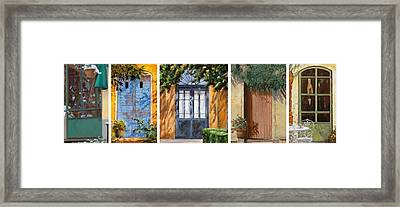 Le 5 Porte Framed Print by Guido Borelli