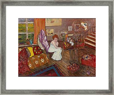 Framed Print featuring the painting Le Atelier by Elaine Elliott