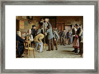 Le Bain De Pieds Inattendu Framed Print by Remy Cogghe