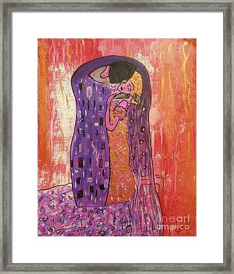 Le Baiser Framed Print by Jessie Art