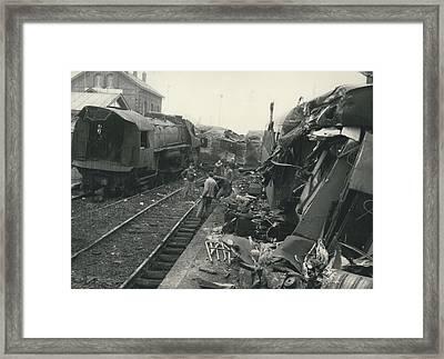Le Bale-dunkerque Deraille Un Cheminot Evite Une Framed Print by Retro Images Archive