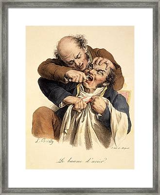 Le Baume Lacier - Having A Tooth Framed Print by Louis Leopold Boilly