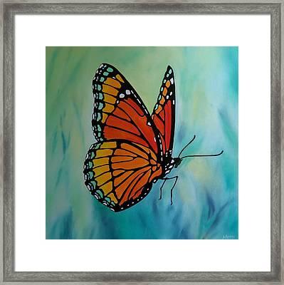 Le Beau Papillon Framed Print