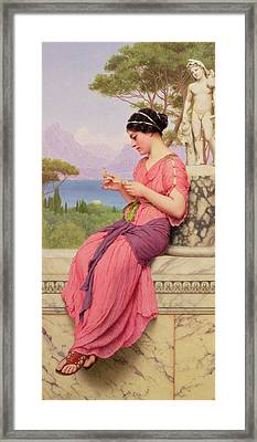 Le Billet Doux Framed Print by John William Godward