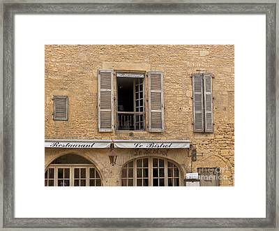 Framed Print featuring the photograph Le Bistro Restaurant by Paul Topp