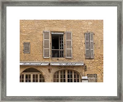 Le Bistro Restaurant Framed Print by Paul Topp