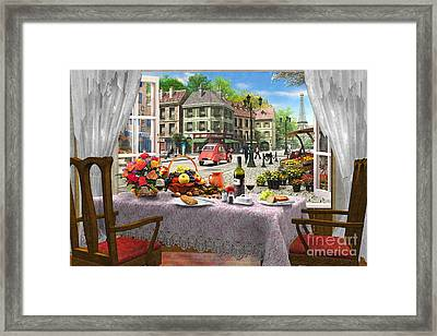 Le Cafe Paris Framed Print