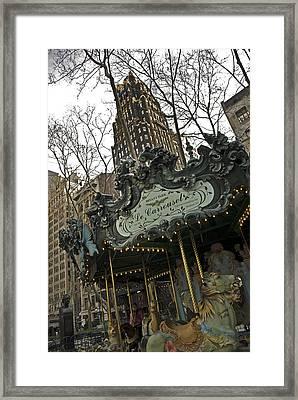 Le Carrousel Framed Print by Alida Thorpe