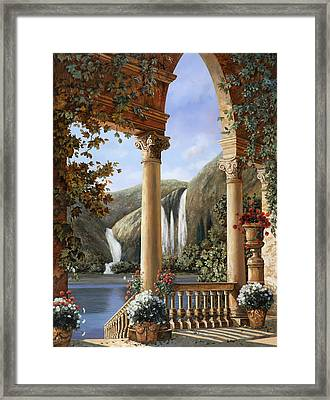 Le Cascate Framed Print by Guido Borelli