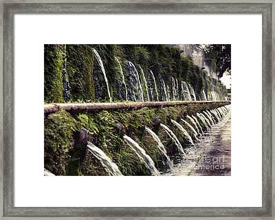 Le Cento Fontane The Hundred Fountains  At Villa D'este Gardenst Framed Print