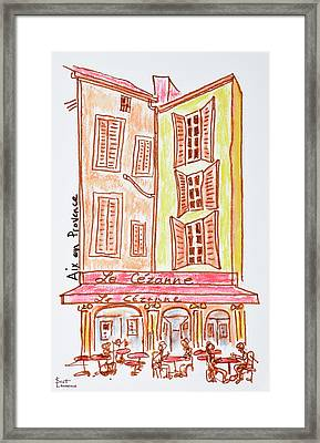 Le Cezanne Cafe, Aix En Provence, France Framed Print