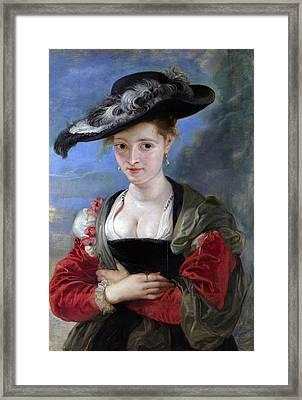 Le Chapeau De Paille Framed Print by Peter Paul Rubens