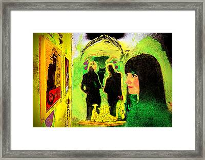 Le Chat Noir Framed Print by Chuck Staley