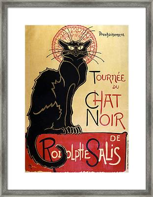 Le Chat Noir Framed Print by Georgia Fowler