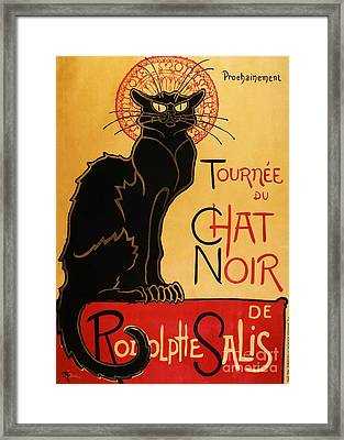 Le Chat Noir Framed Print by Pg Reproductions