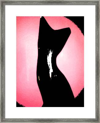 Framed Print featuring the digital art Le Chat Noir by Persephone Artworks