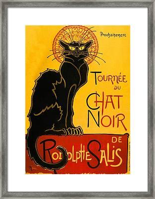 Le Chat Noir Tournee Du Chat Noir Vintage Black Cat Art Nouveau Framed Print by Masterpieces Of Art Gallery