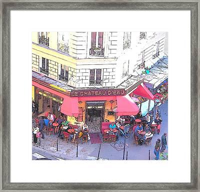 Le Chateau D'eau In Paris Framed Print