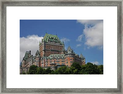 Le Chateau Frontenac  -- Quebec City Framed Print