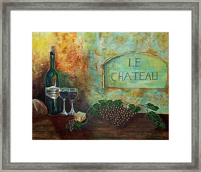 Framed Print featuring the painting Le Chateau by Tamyra Crossley