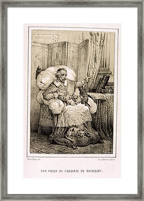 Le Chats De Cardinal Richelieu Framed Print by British Library