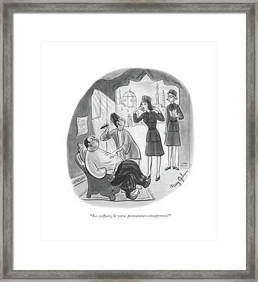 Le Coiffure Framed Print