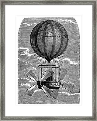 'le Comte D'artois' Balloon Framed Print by Science Photo Library