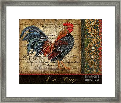 Le Coq-b Framed Print by Jean Plout