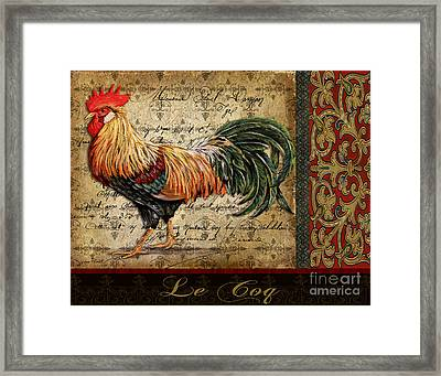 Le Coq-c Framed Print
