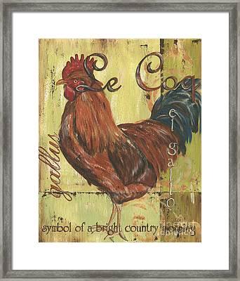 Le Coq Framed Print by Debbie DeWitt