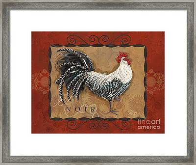 Le Coq Rooster Noir Framed Print