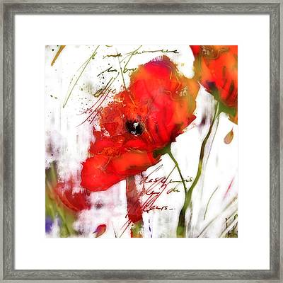 Le Coquelicot ... Framed Print