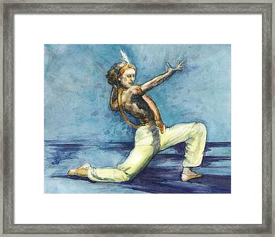 Framed Print featuring the painting Le Corsaire by Lora Serra