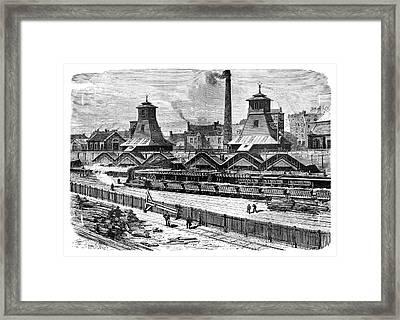 Le Creusot Coal Mines Framed Print