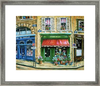Le Fleuriste Framed Print by Marilyn Dunlap