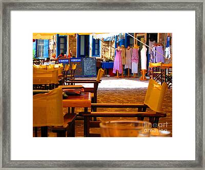 Framed Print featuring the photograph Le Grand Bleu by Andreas Thust