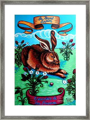 Le Grand Lapin Anarchie Framed Print by Genevieve Esson